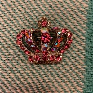 Girls Pink & Rhinestone Pageant # Pin ~ Lovely